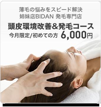 頭皮環境改善&発毛コース