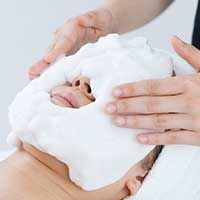 幹細胞ソープで泡洗顔